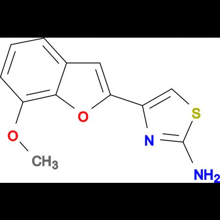 4-(7-methoxy-1-benzofuran-2-yl)-1,3-thiazol-2-amine