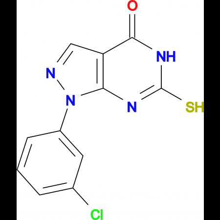 1-(3-chlorophenyl)-6-mercapto-1,5-dihydro-4H-pyrazolo[3,4-d]pyrimidin-4-one