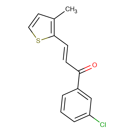 (2E)-1-(3-chlorophenyl)-3-(3-methylthiophen-2-yl)prop-2-en-1-one