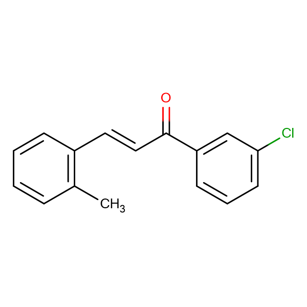 (2E)-1-(3-chlorophenyl)-3-(2-methylphenyl)prop-2-en-1-one