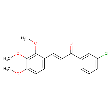 (2E)-1-(3-chlorophenyl)-3-(2,3,4-trimethoxyphenyl)prop-2-en-1-one