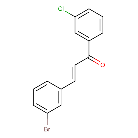 (2E)-3-(3-bromophenyl)-1-(3-chlorophenyl)prop-2-en-1-one