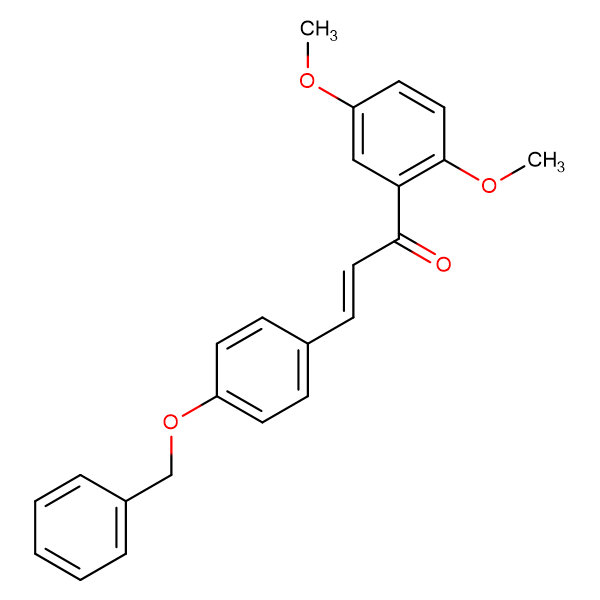 (2E)-3-[4-(benzyloxy)phenyl]-1-(2,5-dimethoxyphenyl)prop-2-en-1-one