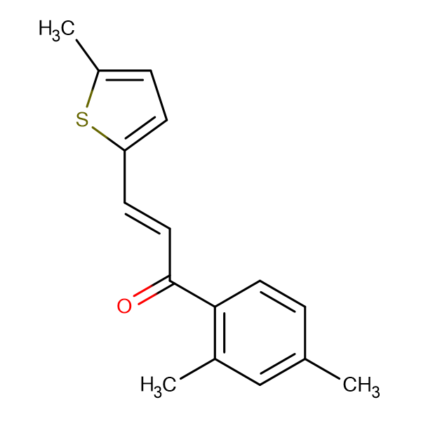 (2E)-1-(2,4-dimethylphenyl)-3-(5-methylthiophen-2-yl)prop-2-en-1-one