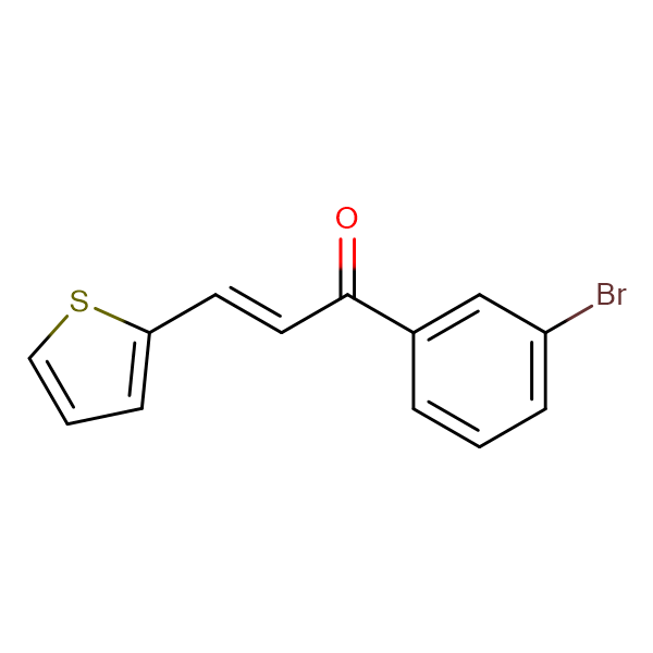 (2E)-1-(3-bromophenyl)-3-(thiophen-2-yl)prop-2-en-1-one