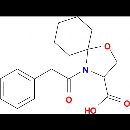 4-(2-phenylacetyl)-1-oxa-4-azaspiro[4.5]decane-3-carboxylic acid