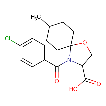 4-(4-chlorobenzoyl)-8-methyl-1-oxa-4-azaspiro[4.5]decane-3-carboxylic acid
