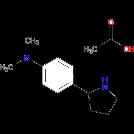N,N-dimethyl-4-(pyrrolidin-2-yl)aniline; acetic acid