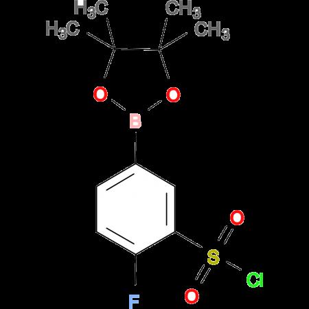 BENZENESULFONYL CHLORIDE, 2-FLUORO-5-(4,4,5,5-TETRAMETHYL-1,3,2-DIOXABOROLAN-2-YL)-