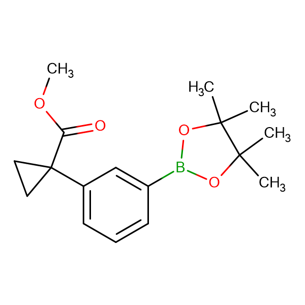 METHYL 1-(3-(4,4,5,5-TETRAMETHYL-1,3,2-DIOXABOROLAN-2-YL)PHENYL)CYCLOPROPANE-1-CARBOXYLATE