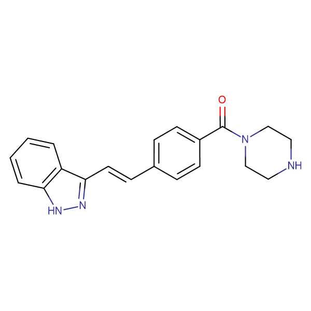 [4-[(E)-2-(1H-INDAZOL-3-YL)ETHENYL]PHENYL]-PIPERAZIN-1-YLMETHANONE