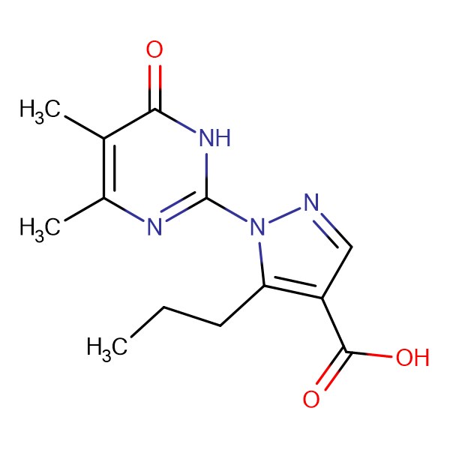 1-(4,5-dimethyl-6-oxo-1,6-dihydropyrimidin-2-yl)-5-propyl-1H-pyrazole-4-carboxylic acid