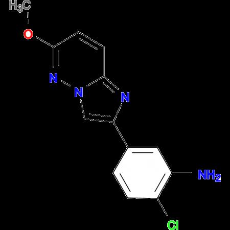 2-chloro-5-{6-methoxyimidazo[1,2-b]pyridazin-2-yl}aniline