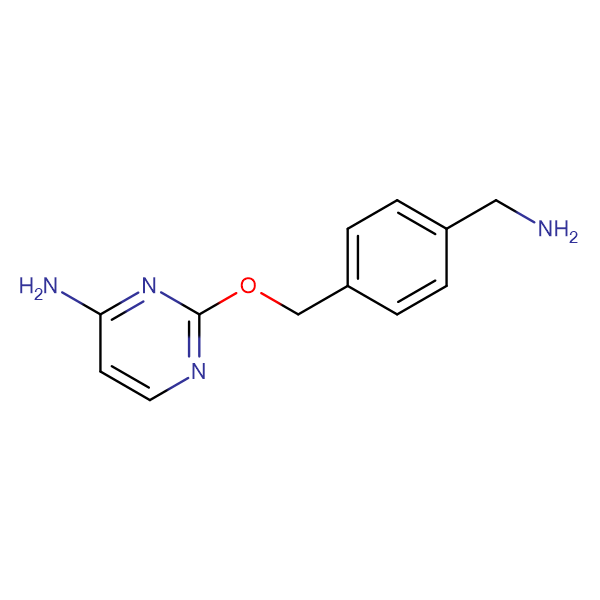 2-((4-(Aminomethyl)benzyl)oxy)pyrimidin-4-amine