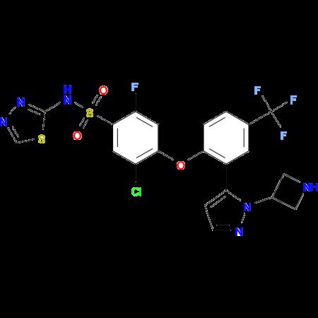 4-[2-[2-(azetidin-3-yl)pyrazol-3-yl]-4-(trifluoromethyl)phenoxy]-5-chloro-2-fluoro-N-(1,3,4-thiadiazol-2-yl)benzenesulfonamide