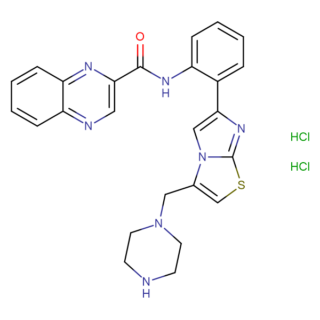 N-(2-(3-(Piperazin-1-ylmethyl)imidazo[2,1-b]thiazol-6-yl)phenyl)quinoxaline-2-carboxamide dihydrochloride