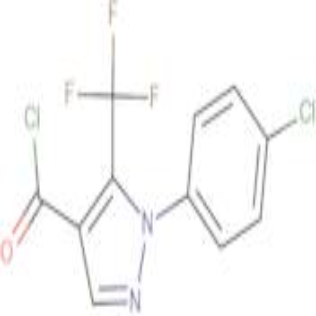 2-(4-Chlorophenyl)-3-(trifluoromethyl)pyrazole-4-carbonyl chloride