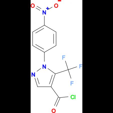 1-(4-Nitrophenyl)-5-(trifluoromethyl)pyrazole-4-carbonyl chloride