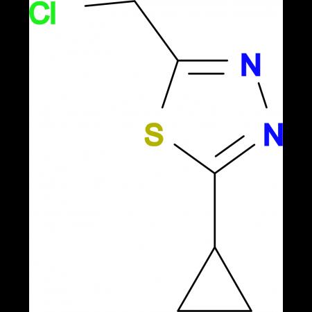 2-Chloromethyl-5-cyclopropyl-1,3,4-thiadiazole