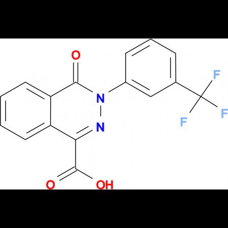 4-Oxo-3-[3-(trifluoromethyl)phenyl]-3,4-dihydro-1-phthalazinecarboxylic acid