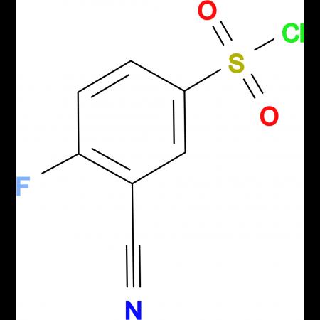 4-Fluoro-3-cyanobenzenesulfonyl chloride