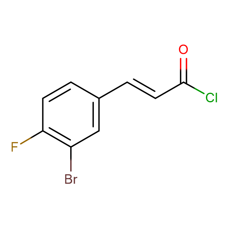 (E)-3-(3-Bromo-4-fluorophenyl)acryloyl chloride