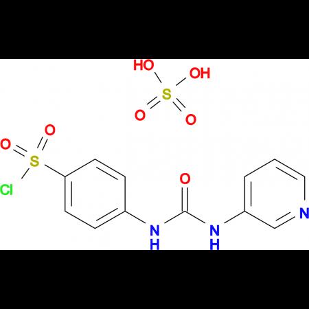 4-(3-Pyridin-3-yl-ureido)benzenesulfonyl chloridehydrogen sulfate