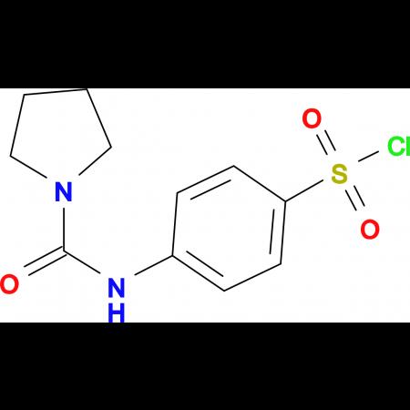 4-[(Pyrrolidine-1-carbonyl)-amino]benzenesulfonylchloride