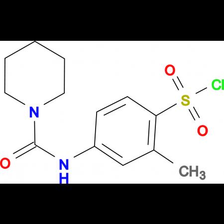 2-Methyl-4-[(piperidine-1-carbonyl)amino]benzene-sulfonyl chloride