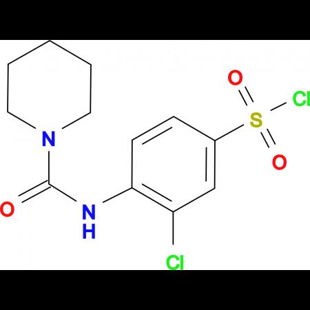 3-Chloro-4-[(piperidine-1-carbonyl)-amino]-benzenesulfonyl chloride