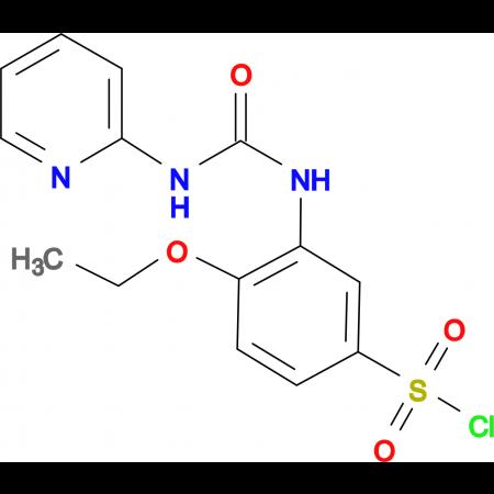 4-Ethoxy-3-(3-pyridin-2-yl-ureido)benzenesulfonyl chloride