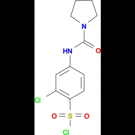 2-Chloro-4-[(pyrrolidine-1-carbonyl)-amino]-benzenesulfonyl chloride