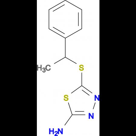 5-(1-Phenylethylsulfanyl)-[1,3,4]thiadiazol-2-ylamine