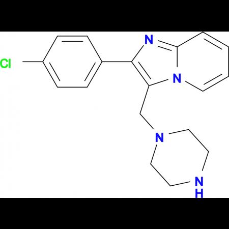 2-(4-Chloro-phenyl)-3-piperazin-1-ylmethyl-imidazo[1,2-a]pyridine