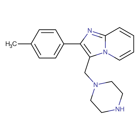 3-Piperazin-1-ylmethyl-2-p-tolyl-imidazo[1,2-a]-pyridine