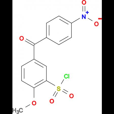 2-Methoxy-5-(4-nitro-benzoyl)-benzenesulfonylchloride