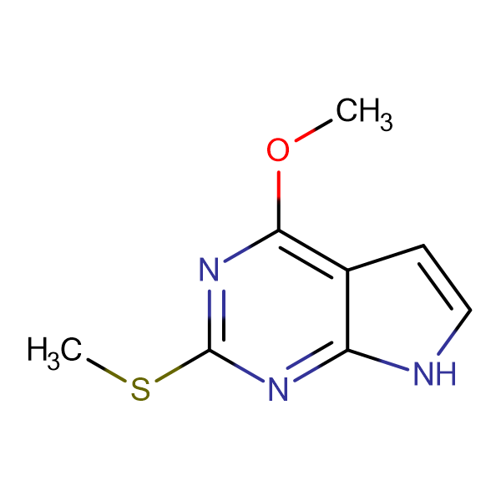 4-Methoxy-2-methylsulfanyl-7H-pyrrolo[2,3-d]pyrimidine