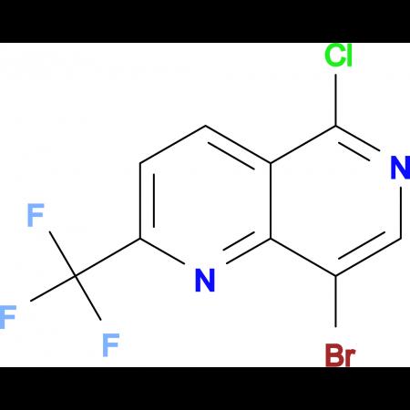 8-Bromo-5-chloro-2-(trifluoromethyl)-1,6-naphthyridine