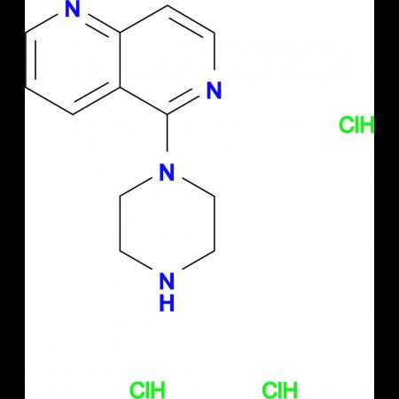 5-(Piperazin-1-yl)-1,6-naphthyridine trihydrochloride