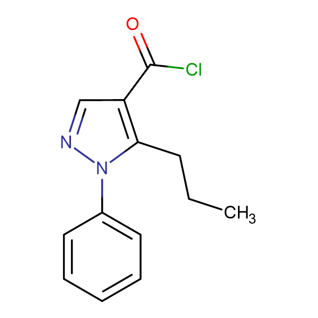 1-Phenyl-5-propyl-1H-pyrazole-4-carbonyl chloride