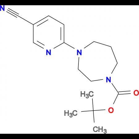 5-Cyano-2-[4-butoxycarbonyl-1-(1,4-diazepenyl)]pyridine