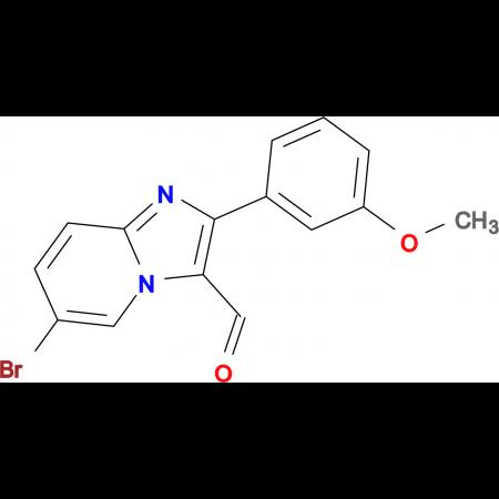 6-Bromo-2-(3-methoxy-phenyl)-imidazo[1,2-a]-pyridine-3-carbaldehyde