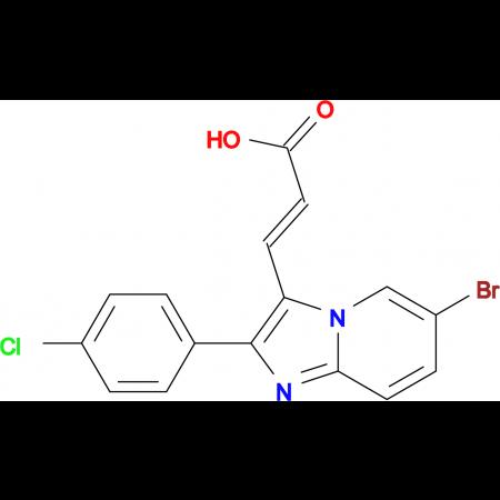 3-[6-Bromo-2-(4-chloro-phenyl)-imidazo[1,2-a]-pyridin-3-yl]-acrylic acid