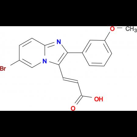 3-[6-Bromo-2-(3-methoxy-phenyl)-imidazo[1,2-a]-pyridin-3-yl]-acrylic acid