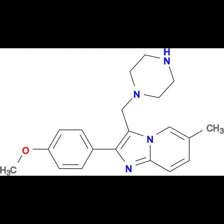 2-(4-Methoxy-phenyl)-6-methyl-3-piperazin-1-ylmethyl-imidazo[1,2-a]pyridine