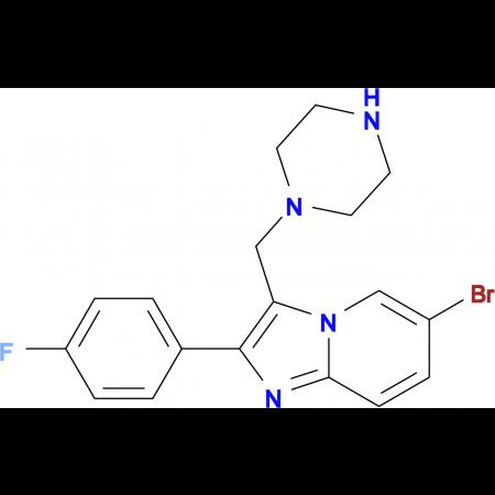 6-Bromo-2-(4-fluoro-phenyl)-3-piperazin-1-ylmethyl-imidazo[1,2-a]pyridine