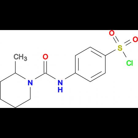 4-[(2-Methyl-piperidine-1-carbonyl)-amino]-benzenesulfonyl chloride