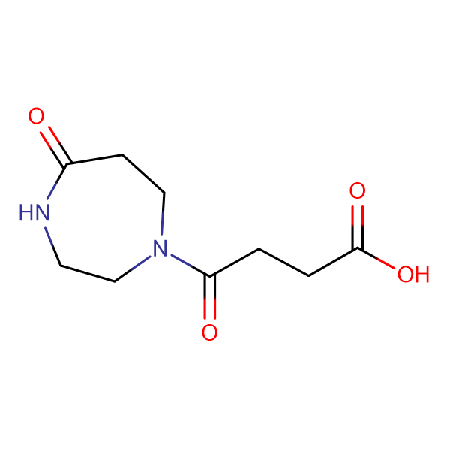 4-Oxo-4-(5-oxo-1,4-diazepan-1-yl)butanoic acid
