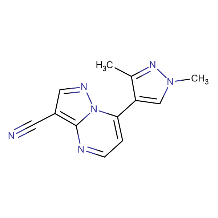7-(1,3-Dimethyl-1H-pyrazol-4-yl)-pyrazolo[1,5- a]-pyrimidine-3-carbonitrile