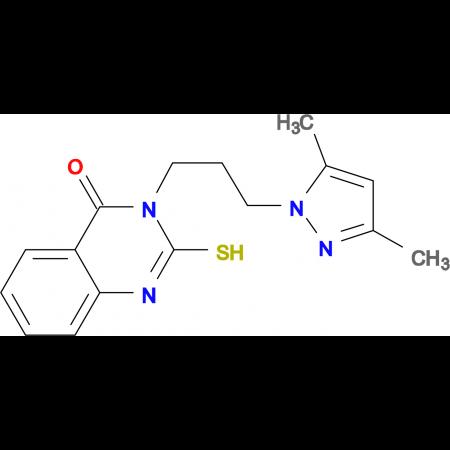 3-[3-(3,5-Dimethyl-pyrazol-1-yl)-propyl]-2-mercapto-3H-quinazolin-4-one